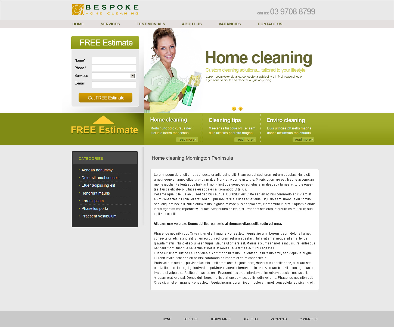 Cleaning services website design Melbourne