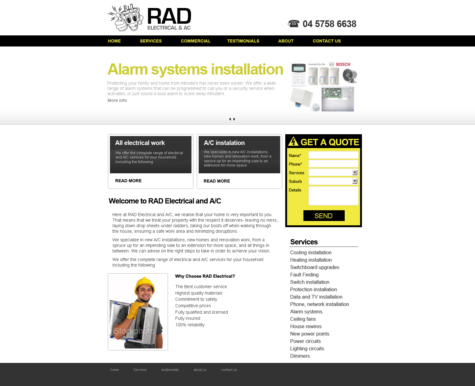 Local electrician web design Melbourne - Axpamdesign - Web Design ...
