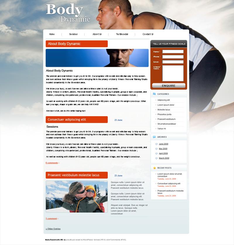 Fitness gym web design Melbourne