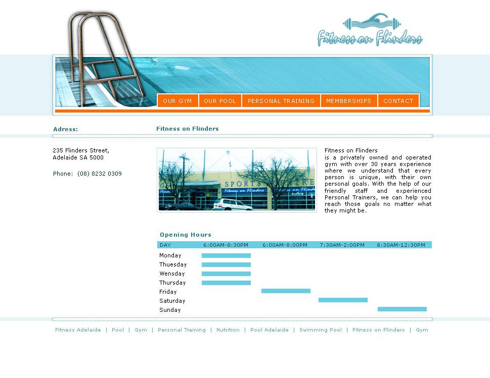Fitness gym website design Melbourne