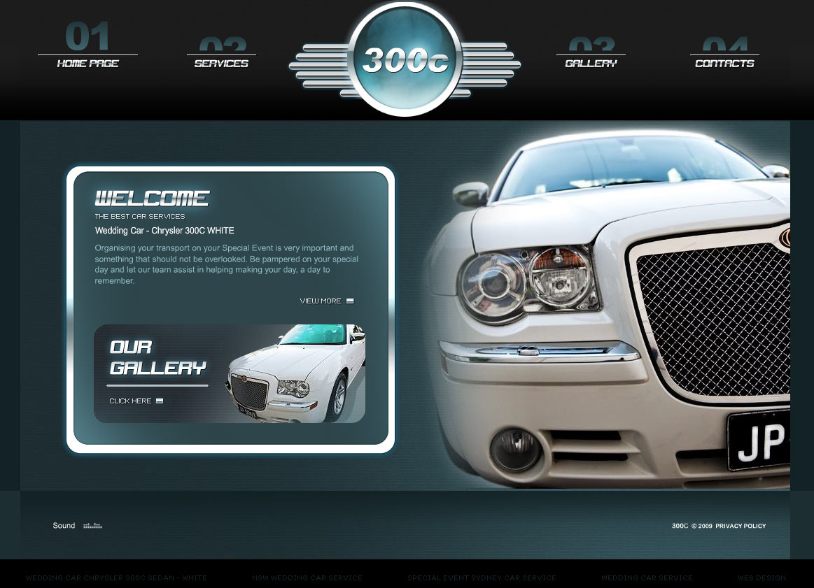 Wedding cars website design Melbourne