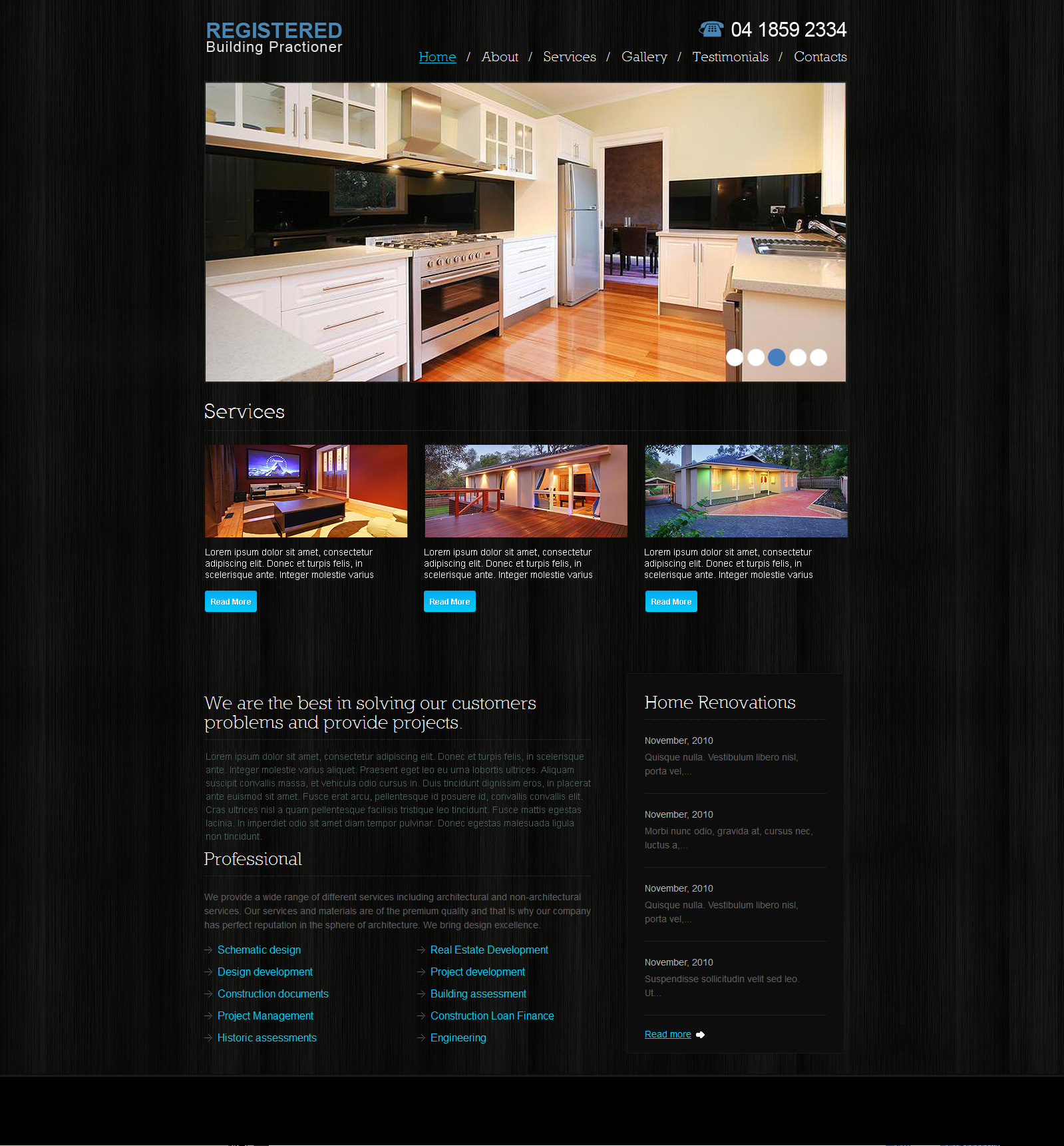 Home extensions website design Melbourne