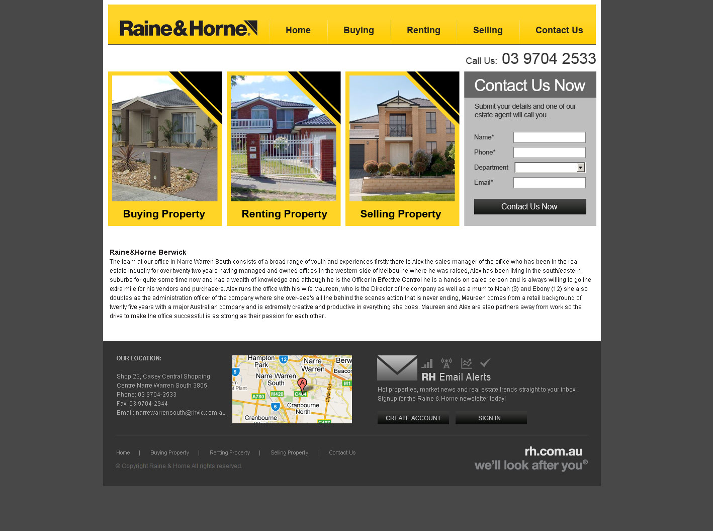 Realestate website design Melbourne