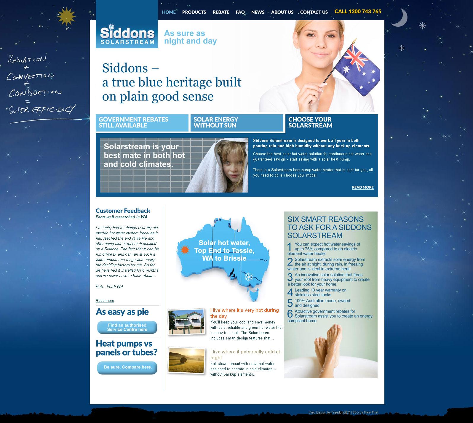 Solar panels website design Melbourne
