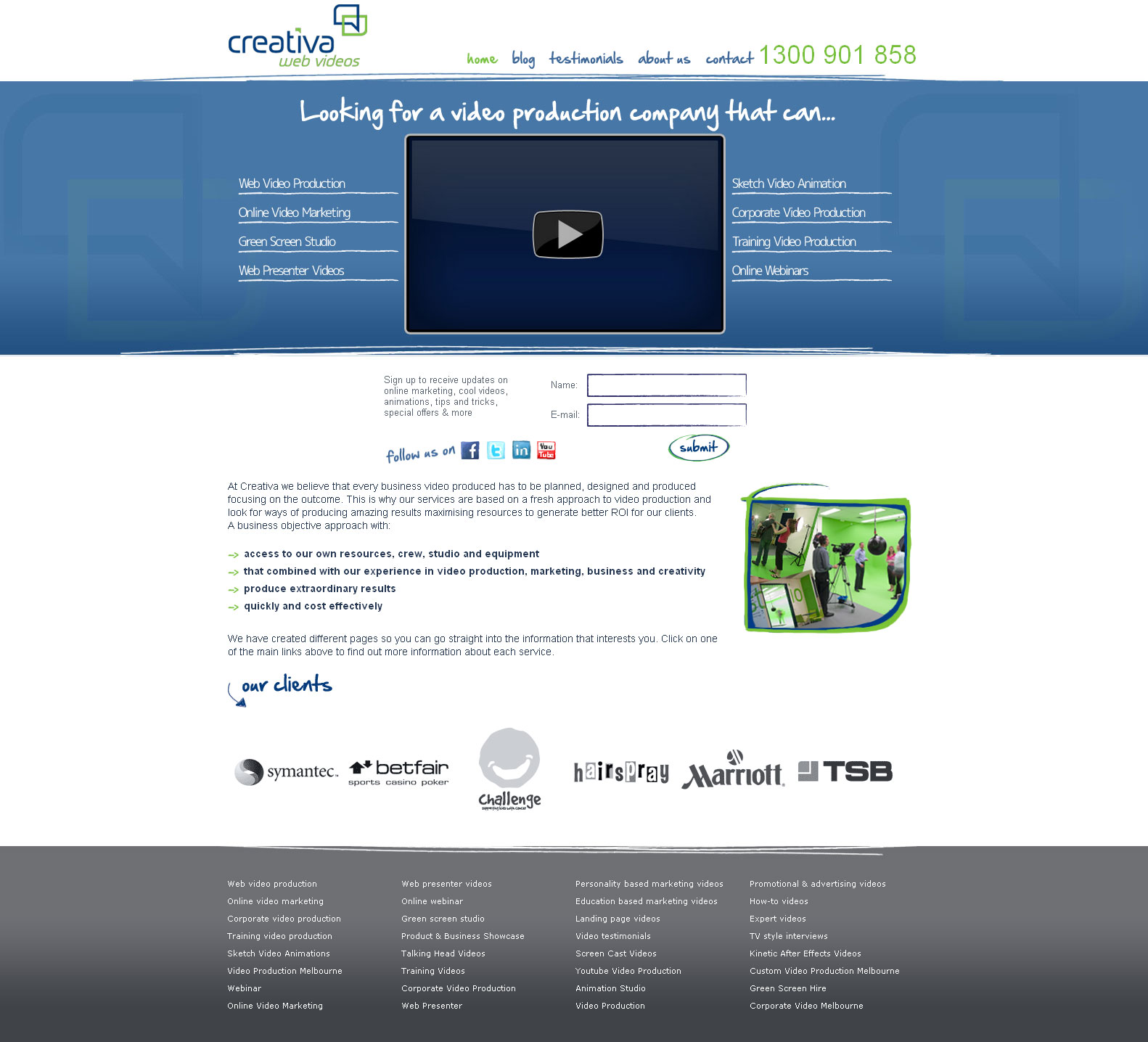 Web video studio web design Melbourne