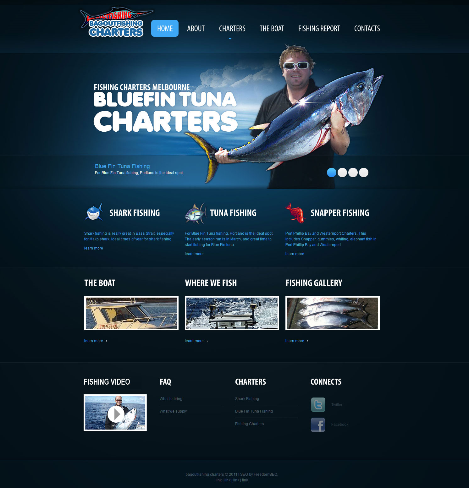 fishing charters website design melbourne