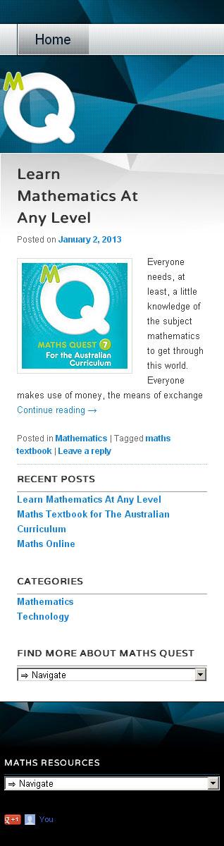 Mobile responsive blog website designer Melbourne